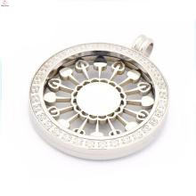 Best price interchangeable coin pendant necklace,silver coin pendant locket necklace