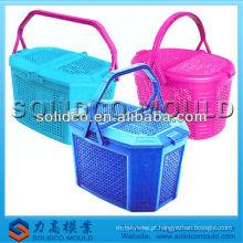 molde de cesta de piquenique de plástico