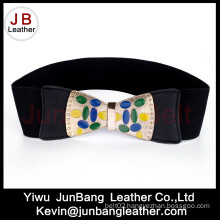 Ladies Fashion Rhinestone Belt with Butterfly Knot Buckle