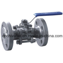 3PC Stainless Steel Flanged Bar Stock Ball Valve