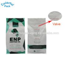 O saco ziplock da cópia lisa impressa costume levanta-se o saco da folha de alumínio para o empacotamento do café
