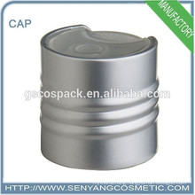 disc top cap aluminum and plastic trim cap