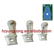 wedge type pulling line strain clamp/guy wire fitting/electric power line fitting