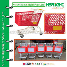 120 litres supermarket plastic shopping cart trolley
