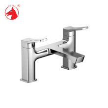 Misturador de lavatório com design de alça dupla do Reino Unido (TMK41303A)