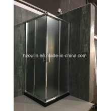 Square Shower Room with Fabric Glass
