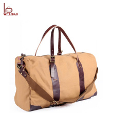 Vintage Genuine Leather Gym Duffle Bag Homens Viagem Duffel Bag