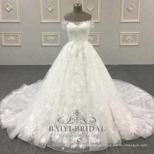 Mais recente Nupcial A Line Atacado Off Shoulder Design Wedding Dresses