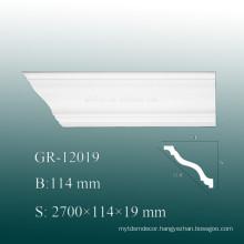 High Density PU Cornice Moulding Polyurethane Decorative Material Flexible Crown Moulding