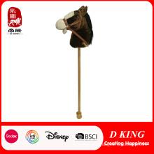 Vara cavalo crianças brinquedo cabeça de cavalo em uma vara