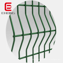 4mm PVC powder coated garden curved welded iron wire mesh fence