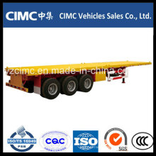 Cimc Hot Sale 3 Axle Flatbed Semi Trailer with Good Quality