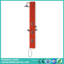Newest Rainfall Safety Glass Shower Column with Red Color (LT-B735)