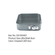 D26 * 26cm carbono aço quadrado antiaderente Bakeware Springform Pan