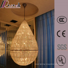 Water Drop Shape Hotel Luxury K9 Crystal Pendant Lamp