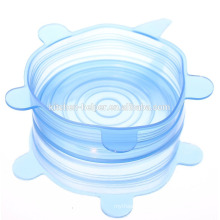 100% Food Grade Silicone Stretch Resistant Sealing Lids Reusing Silicone Jar Lids