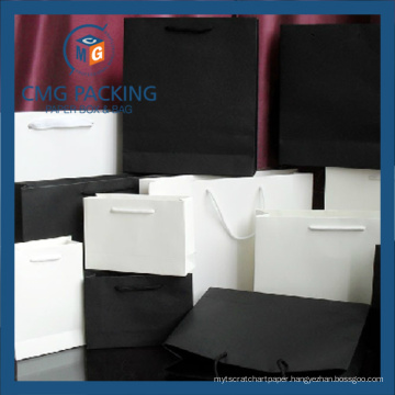Black and White Blank Clothing Paper Bag