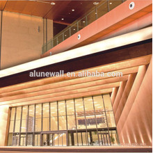 Made in china 4mm 3mm 5mm 6mm 8mm Decorative Copper composite Wall Panels