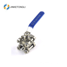 JKTL3B033 cf8m 1000 wog 3pc 90 degree cast iron globe ball valve price
