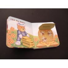 Прокатанный детей, книжное производство цвета /воды видна книга с тонкими листами