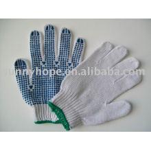 PVC-punktierter Handschuh für den Bau