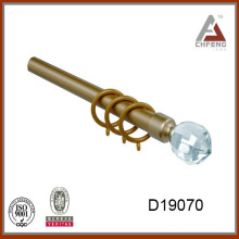 D19070 ellipse crystal with section curtain rod finial,metal curtain rod,decoration curtain accessories