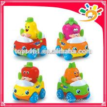 Mini Cartoon Fruit Friction Car Toys For Kids Mini Plastic Car