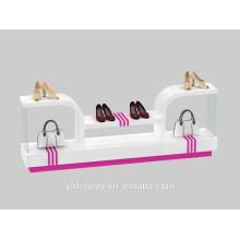 Acrylhut und Taschen-und Schuh-Anzeigen-Halter für Einkaufszentrum