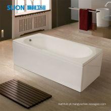 Banheira acrílica padrão Banheira quadrada Independente