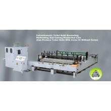 Ligne de production de rebobinage, de gaufrage, de perforation et de découpe de papier hygiénique complètement automatique