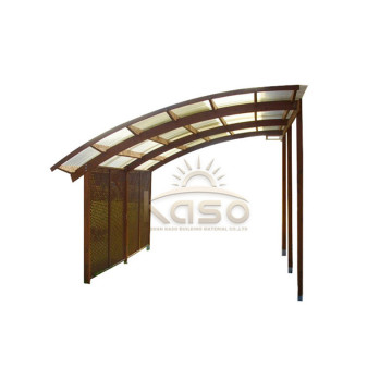 Green High Load Bearing Cantilever Aluminum Carport