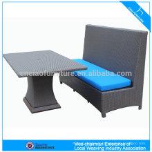 Wicker Rattan Pont Table et Chaises Set