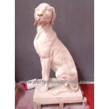 Stein Marmor Hund Tier Skulptur für Garten Statue (SY-B101)