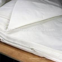 Tecido de algodão branco liso atacado / roupa de harmonização da família / tecido penteado algodão