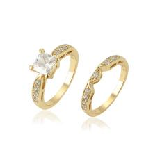 13686 xuping moda gemstone sintético conjunto de cobre ambiental anel para casal