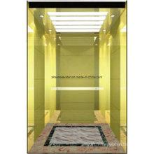 Ascenseur d'ascenseur de passager Miroir d'or Gravure Hl-X-054