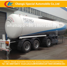 45000L Triaxles Liquefied Petroleum Gasoil Behälter-halb Anhänger