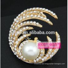 Große Perlenbrosche für Hochzeitskarten