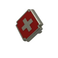 Красный Крест дизайн пользовательского металл таблички с логотипом для сумки