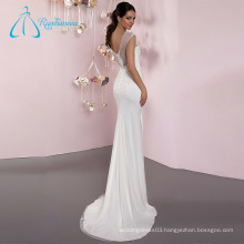 Spandex Tulle Sheath Sleeveless Simple Wedding Dress Lace