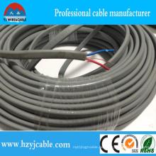 Kupfer-Cored-PVC-isolierte und ummantelte elektrische Flachkabel BVVB Earth Wire