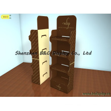 5 Layers Cardboard Floor Display Stand for Super Markets with SGS (B&C-A068)