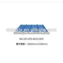 Produce YX25-205-820/1025 Colored steel wall panel