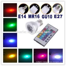 3W RGB led spot light led light garden spot lights gu10 240v led spot light