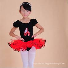 2015 venta al por mayor babi niñas etapa desgaste negro kid dance leotardo tutú vestido