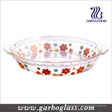 Plaque de cuisson au verre résistant à la chaleur avec décalque (GB13G21255 TH 002)