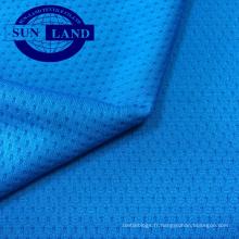 Tissu 100% polyester, tricoté à sec