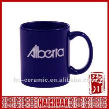 Taza de encargo de la taza de la insignia cerámica, taza de café de cerámica taza
