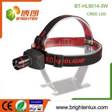 Factory Supply Multi-functional Coal Mining 3 * AAA Matériau ABS en aluminium 3watt High Power Cree Zoom Headlamp Headlight led