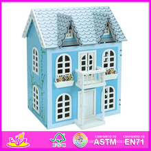 2014 New Kids Wooden Doll House Toy, Popular Children Wooden Doll House, Hot Sale Baby Toys, High Quality Children Toys W06A038